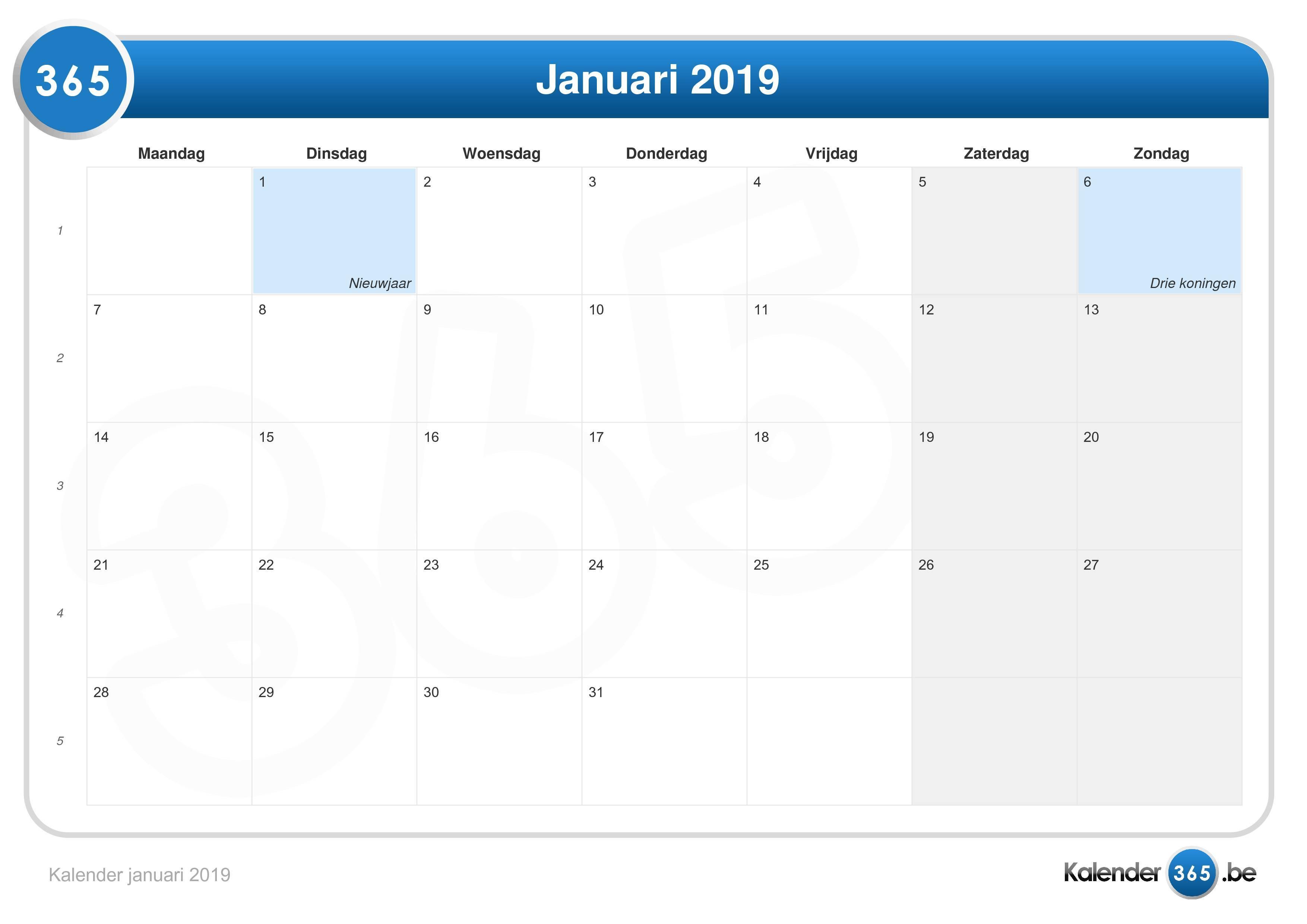 calendar 365 com 2019 pdf